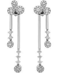Damiani - 18k 1.13 Ct. Tw. Diamond Drop Earrings - Lyst