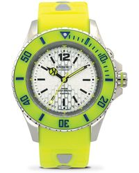 Kyboe - Neon Yellow Silicone & Stainless Steel Strap Watch/40mm - Lyst