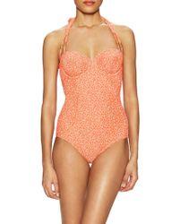 Lilliput & Felix - Delphinium Balconette Textured One Piece Swimsuit - Lyst