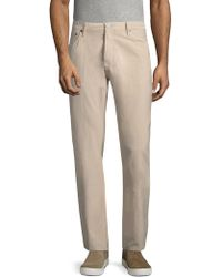 Burberry - High-rise Cotton Trouser - Lyst
