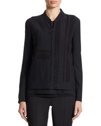 Akris - Lace-detail Zip Jacket - Lyst