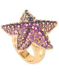 Pomellato - 18k Rose Gold Rhodolite Starfish Ring - Lyst