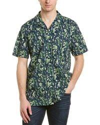 Onia Vacation Woven Shirt - Blue