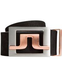 J.Lindeberg - Slater 2.0 Leather Belt - Lyst