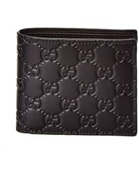Gucci - Signature Leather Coin Wallet - Lyst