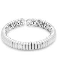 John Hardy - Diamond & Sterling Silver Cuff Bracelet - Lyst