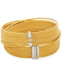 Alor - Stainless Steel And 18k Gold Wrap Bracelet - Lyst