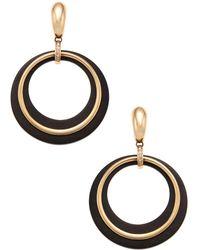Vendoro - 18k Rose Gold, Ebony & 0.18 Total Ct. Diamond Drop Earrings - Lyst