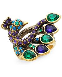 Heidi Daus - Fabulous Feather Peacock Cocktail Ring - Lyst