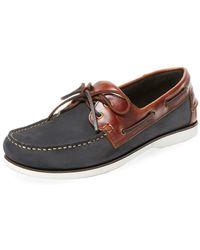 Campobello - Tie Boat Shoe - Lyst