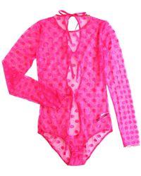 Hanky Panky - Hot Dot Back Tie Bodysuit - Lyst