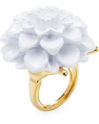 Kenneth Jay Lane | Flower Statement Ring | Lyst