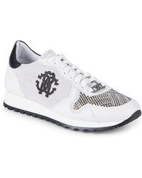 Roberto Cavalli - Logo Studded Sneakers - Lyst