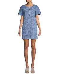 Lea & Viola - Elephant-print Denim T-shirt Dress - Lyst