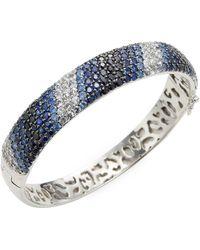 Effy Sterling Silver Sapphire Bangle - Multicolour