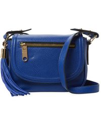 MILLY - Astor Mini Leather Saddle Crossbody - Lyst