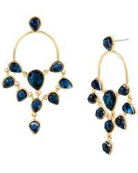 Diane von Furstenberg - Aquarius Stone Chandelier Earrings - Lyst