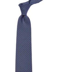 Ferragamo - Blue Vara Chain Silk Tie - Lyst