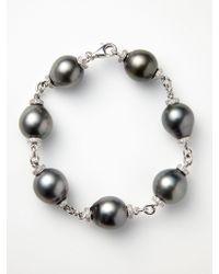 Tara Pearls - Baroque Tahitian Pearl Link Bracelet - Lyst
