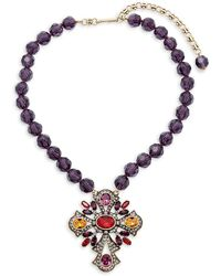 Heidi Daus - Colorful Cross Necklace - Lyst