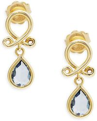 Temple St. Clair - 18k Yellow Gold Loop Drop Earrings - Lyst