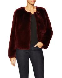 Pure Navy - Rabbit Fur Chubby Coat - Lyst