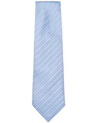 Armani - Embroidered Stripes Tie - Lyst