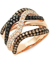 Effy - Confetti Multicolor Diamond & 14k Rose Gold Ring - Lyst