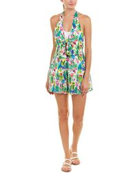 07416009b4a1 Lyst - Nanette Lepore Cactus Romper Swimsuit Cover-up in Green