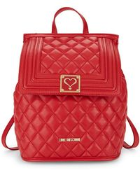 Love Moschino - Quilted Convertible Backpack - Lyst
