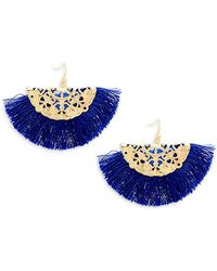 Panacea - Fringe Drop Earrings - Lyst