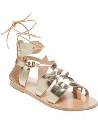 Ancient Greek Sandals - Filareskia Metallic Leather & Leather Sandal - Lyst