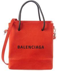 Balenciaga Marquetry Logo Leather Tote