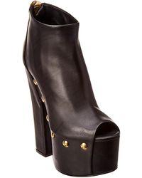 Giuseppe Zanotti - Leather Peep Toe Platform Bootie - Lyst