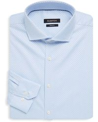 Bugatchi - Chequered Cotton Dress Shirt - Lyst