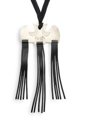 By Malene Birger - Fringed Leather Necklace - Lyst