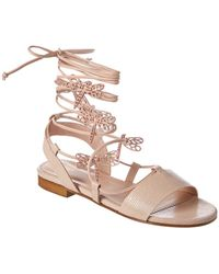 dfdb2b1c8 Lyst - RED Valentino Bow-embellished Point D esprit-effect Rubber ...
