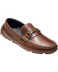 Cole Haan - Kelson Leather Loafers - Lyst