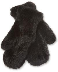 Surell - Knit Fur Mittens - Lyst