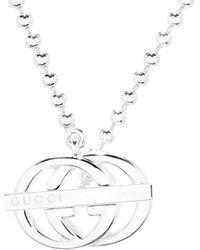 4737d25fe Gucci Love Britt Necklace in Metallic - Lyst