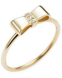 Sydney Evan - Gold Ribbon Ring - Lyst