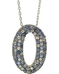 Suzy Levian - Silver 1.00 Ct. Tw. Sapphire Necklace - Lyst