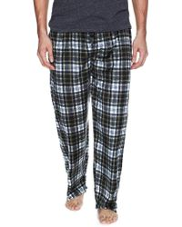 Ben Sherman | Plaid Micro Fleece Pajama Pants | Lyst