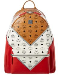 MCM - Men's Stark M Move Visetos Backpack - Cognac Red - Lyst