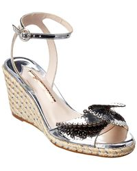 Sophia Webster - Soleil Lucita Mirrored Espadrille Leather Wedge - Lyst