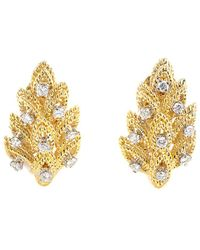 Heritage Tiffany & Co. - Tiffany & Co. 18k 0.55 Ct. Tw. Diamond Clip-on Earrings - Lyst