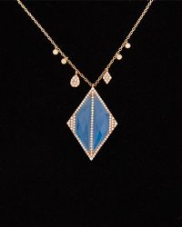 Meira T - 14k & Silver 10.07 Ct. Tw. Diamond & Chalcedony Necklace - Lyst