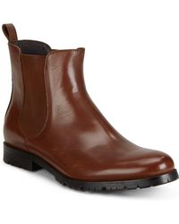 Saks Fifth Avenue - Leather Chelsea Boots - Lyst