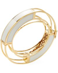 Eddie Borgo - Circle Frame Bangle Bracelet - Lyst