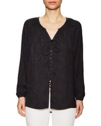 Ramy Brook | Patricia Jacquard Lace Up Front Blouse | Lyst
